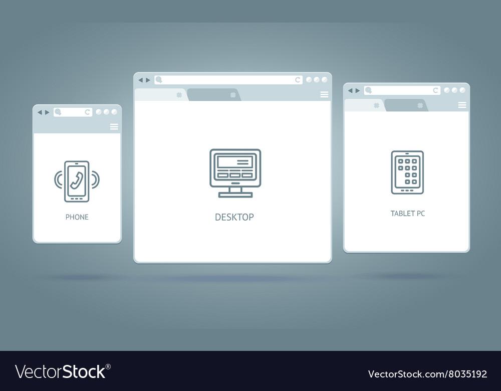 Browser Windows Responsive Web
