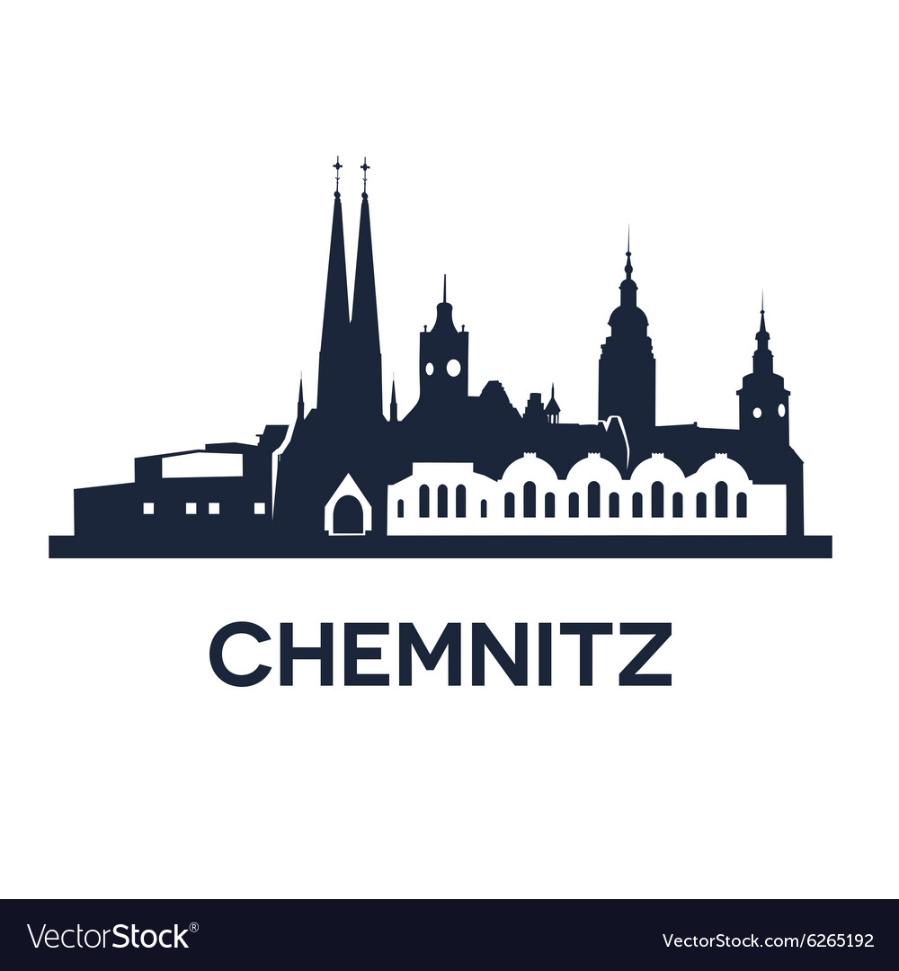 Chemnitz city skyline vector