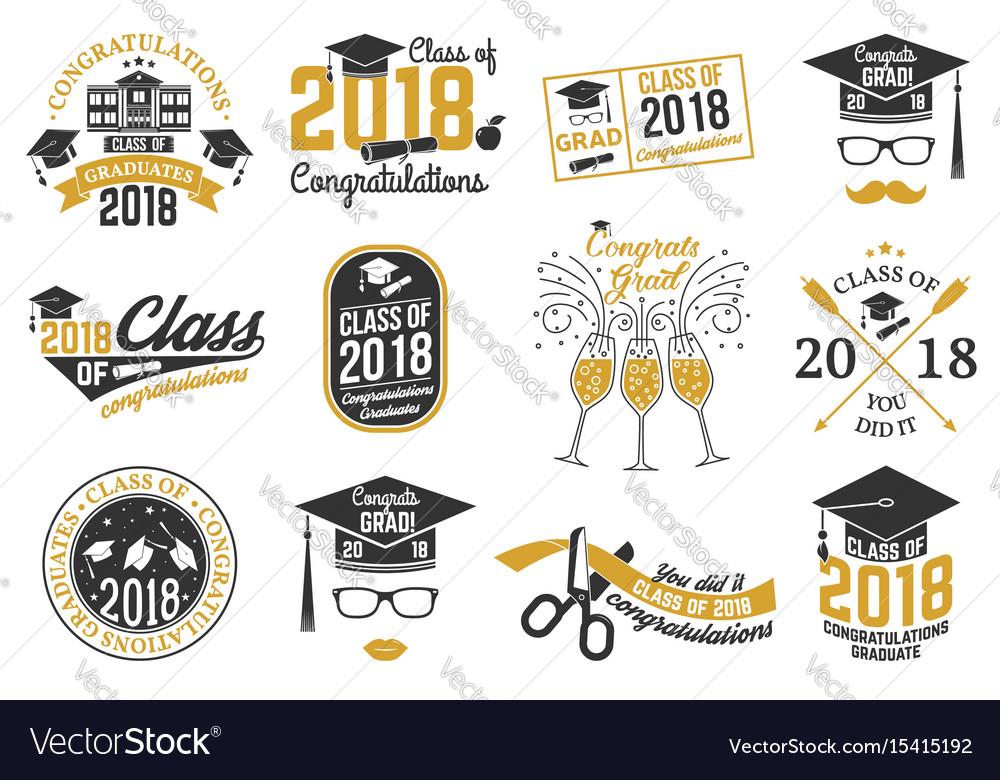 Class of 2018 badge
