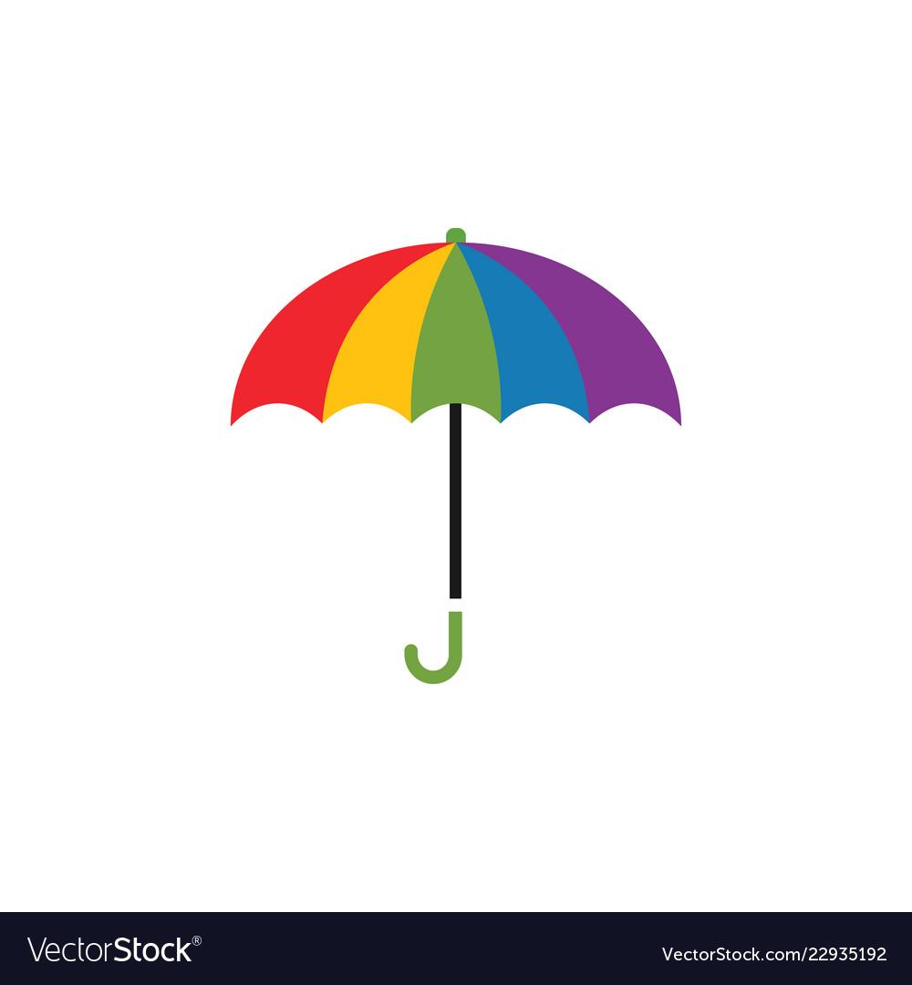 Colorful umbrella graphic design template