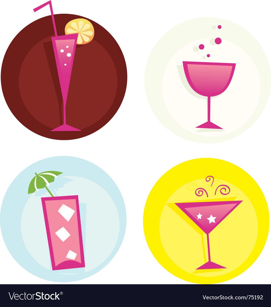 Drinks icon set