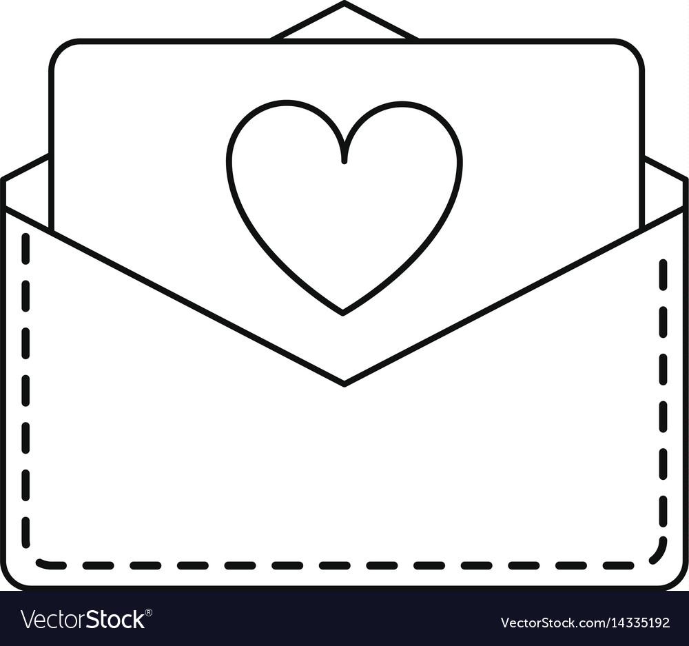 Love heart envelope mail valentine letter lin