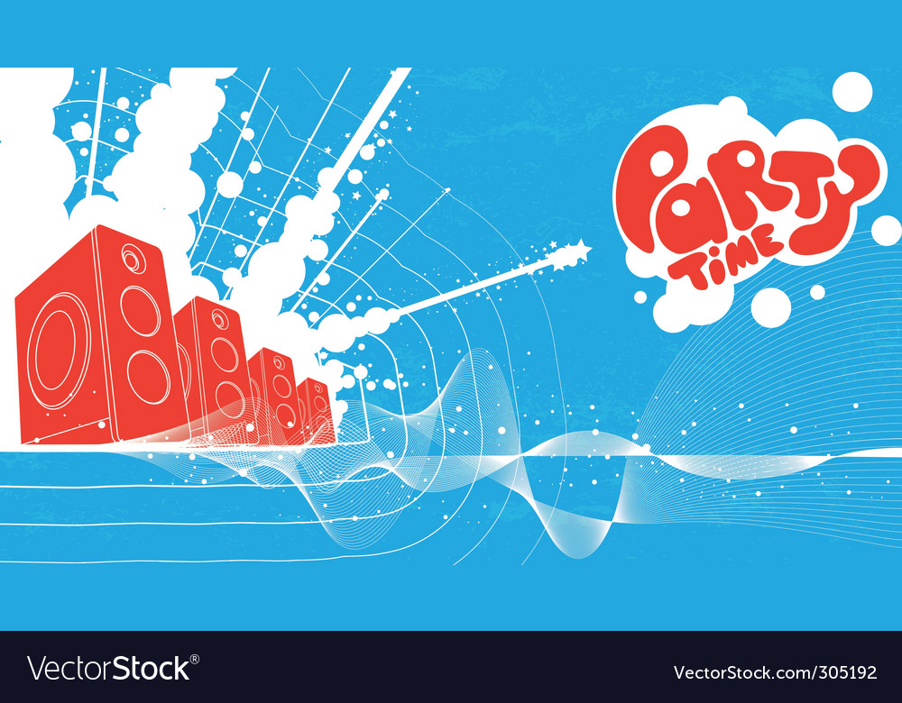 Party and speaker background vector image
