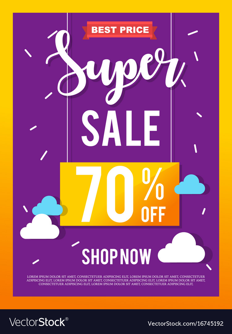 Sale banner on colorful background