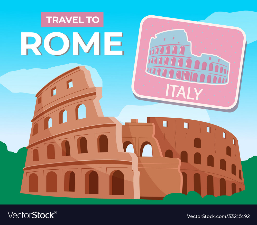 Travel to rome ancient colosseum traveling