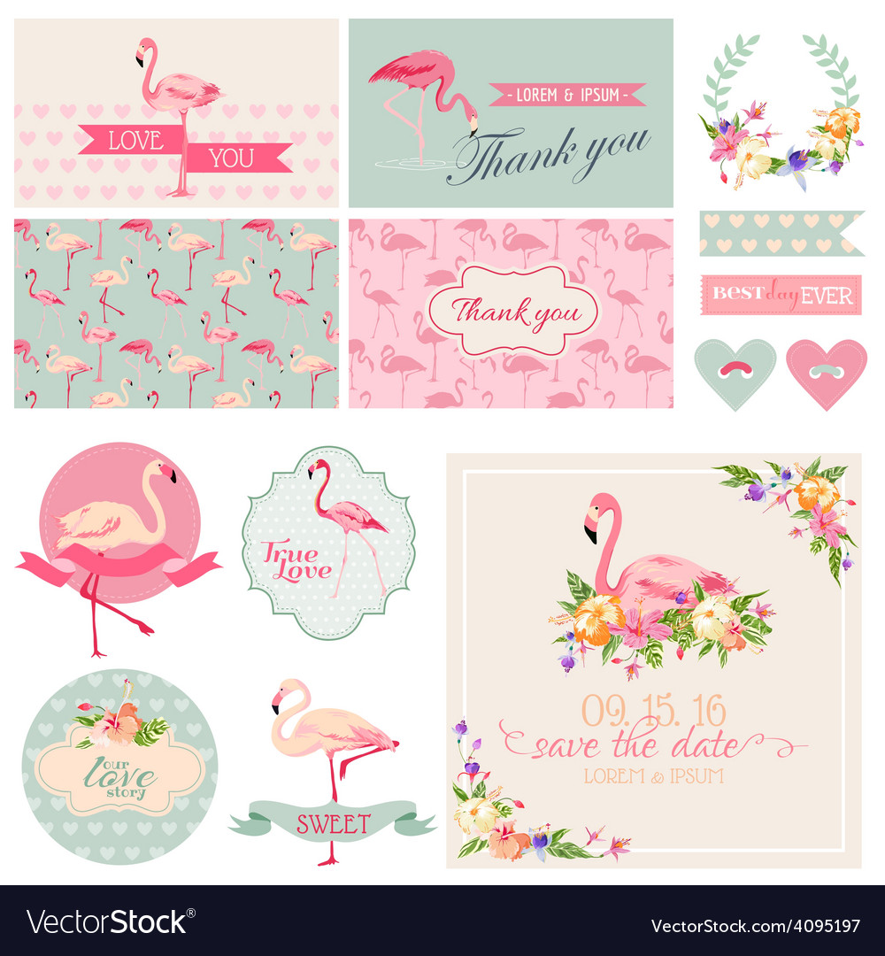 Flamingo Party Set - for Wedding Bridal Shower