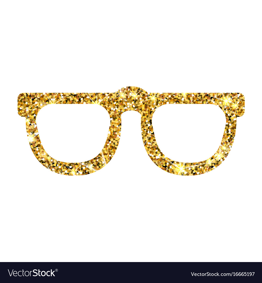 6f0ab5a2605 Gold glitter sunglasses luxory design Royalty Free Vector