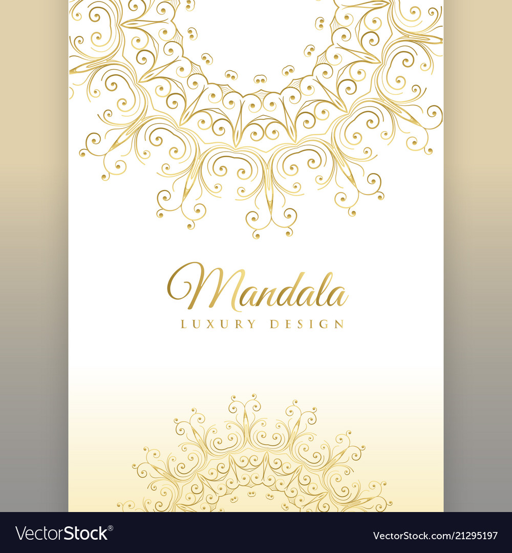 Premium Mandala Invitation Card Design