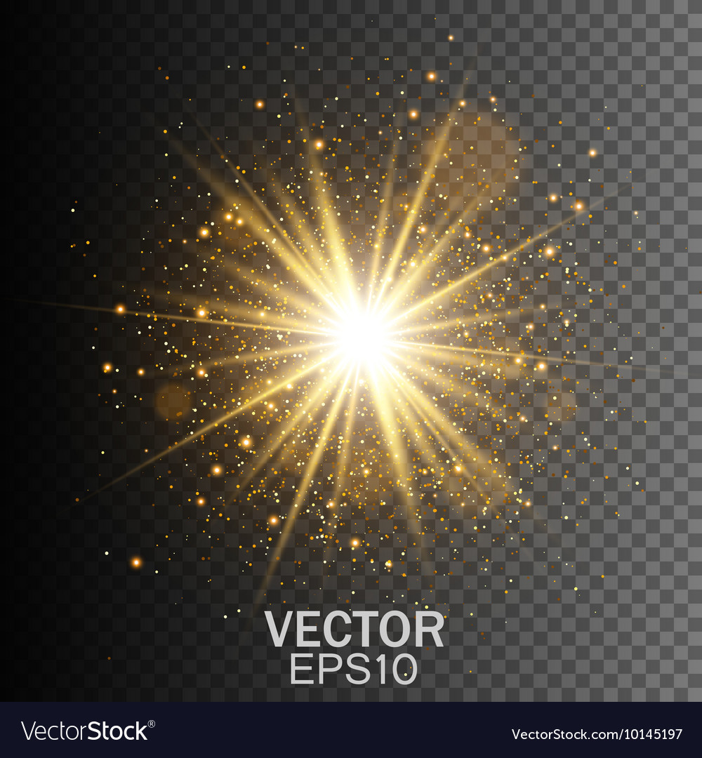Transparent glow light effect star burst