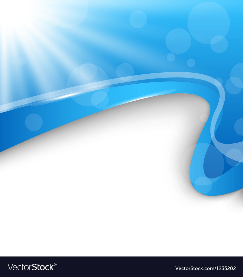 Abstract wavy background with blue rays vector image