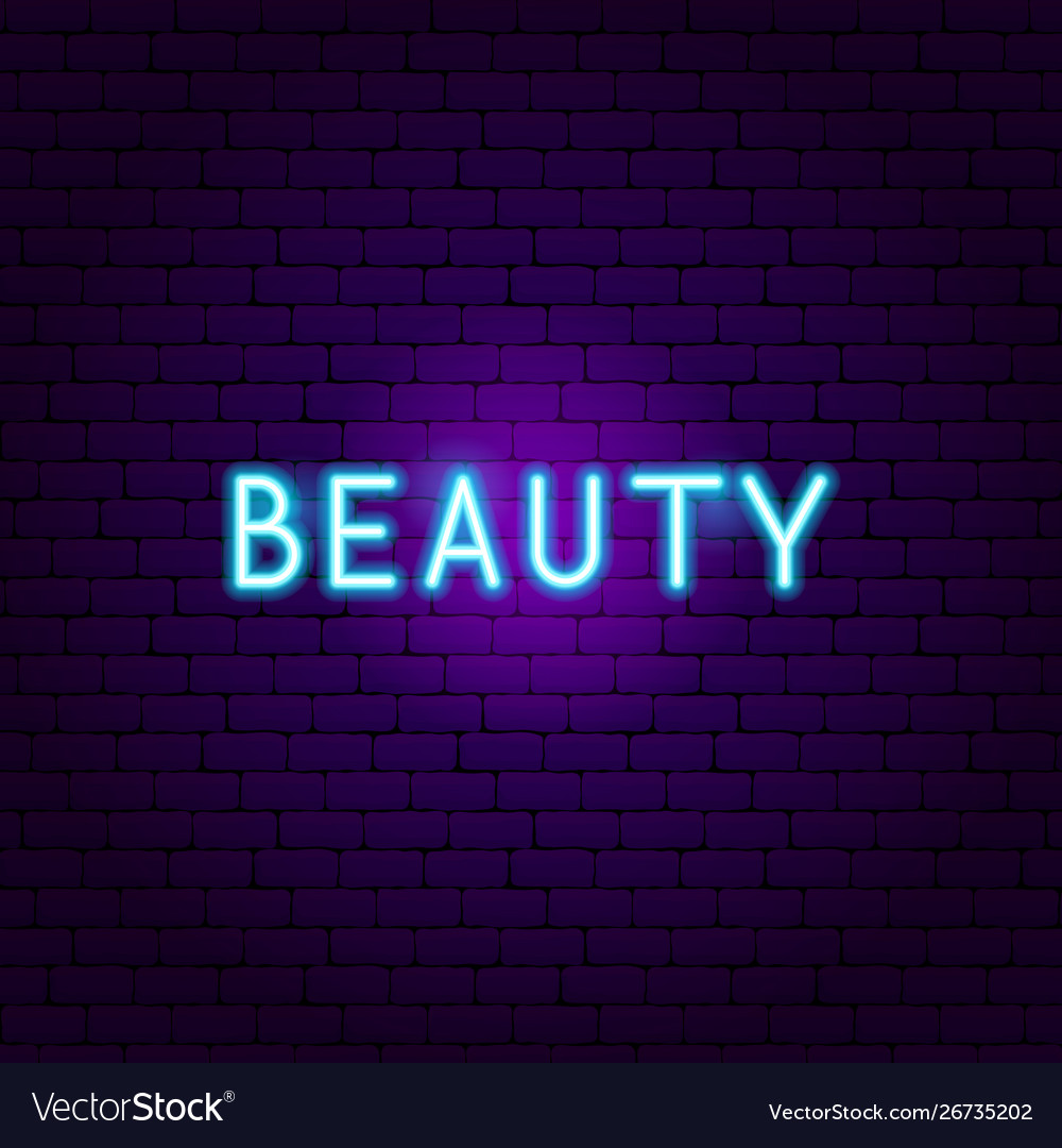 Beauty neon text