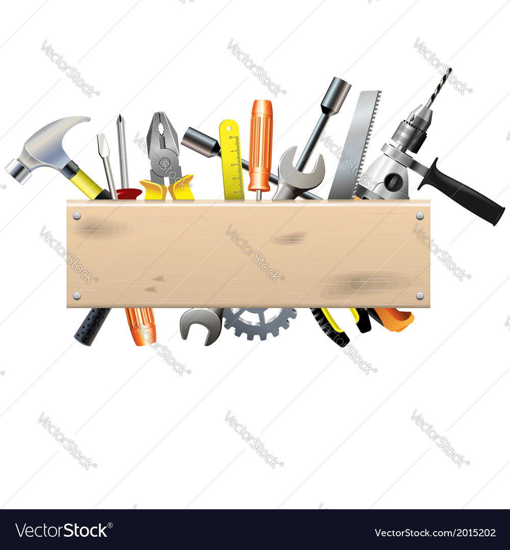 Board with tools