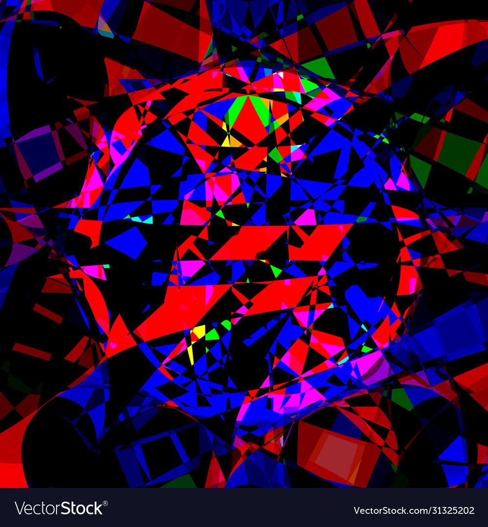 Bright multichrome poligonal mosaics background