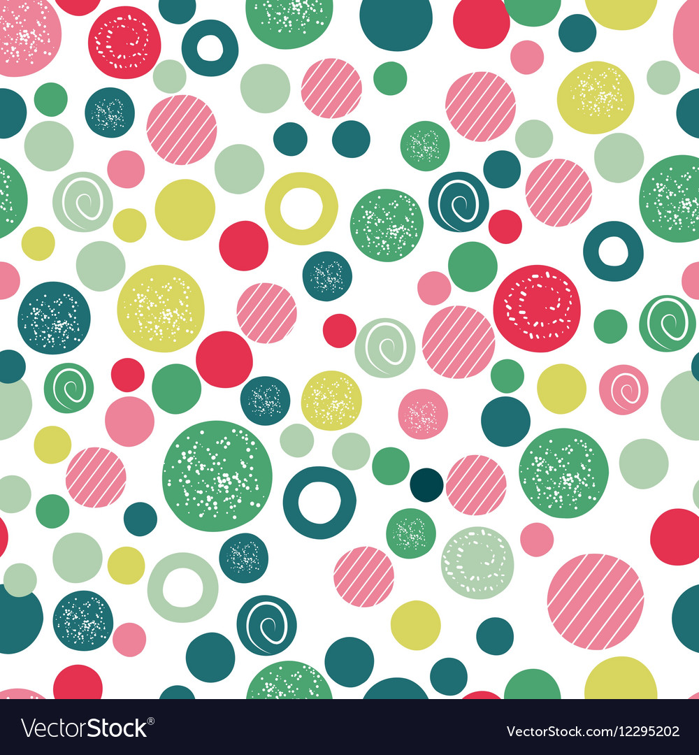 Cute Kids Background Design With Polka Dot Vector Image