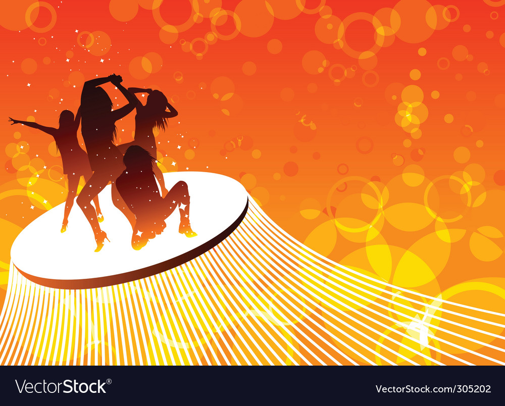 Dancing women vector image