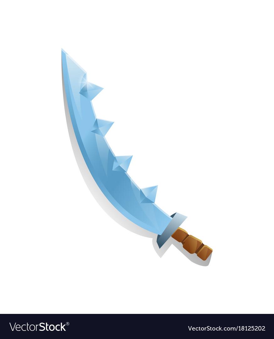 Medieval sabre in cartoon style
