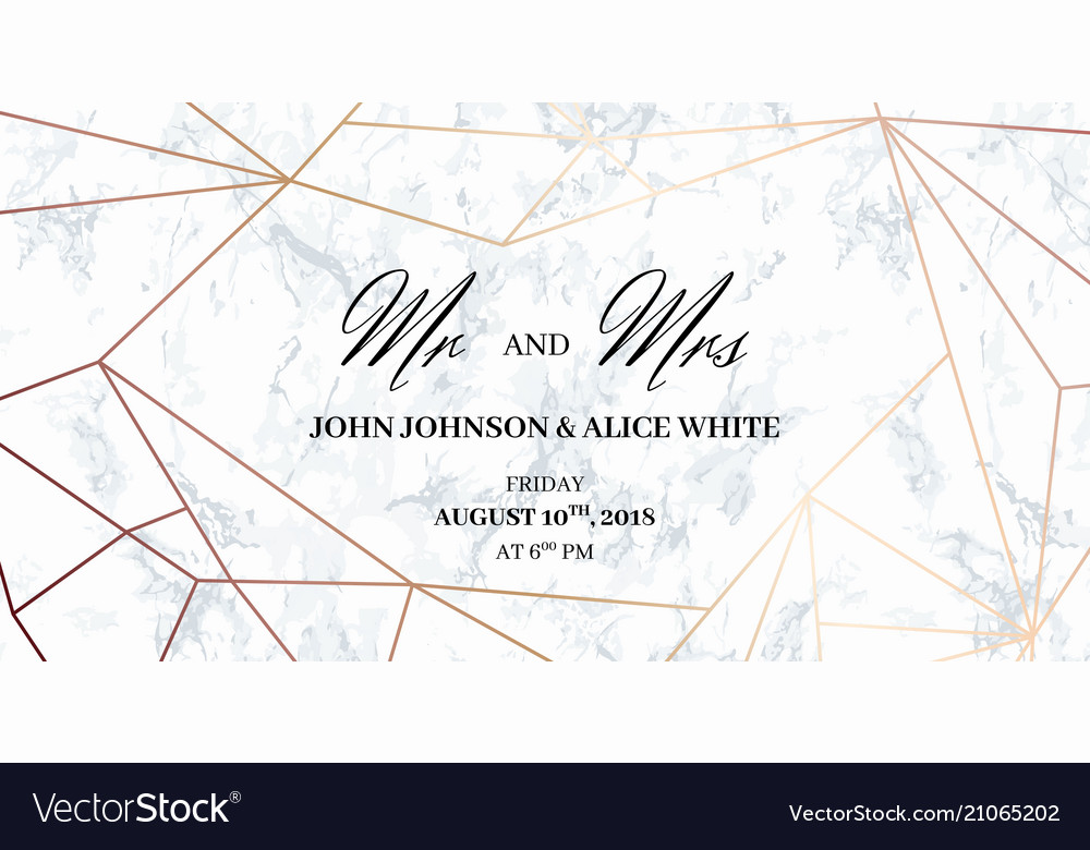 Wedding template card mr and mrs signs Royalty Free Vector