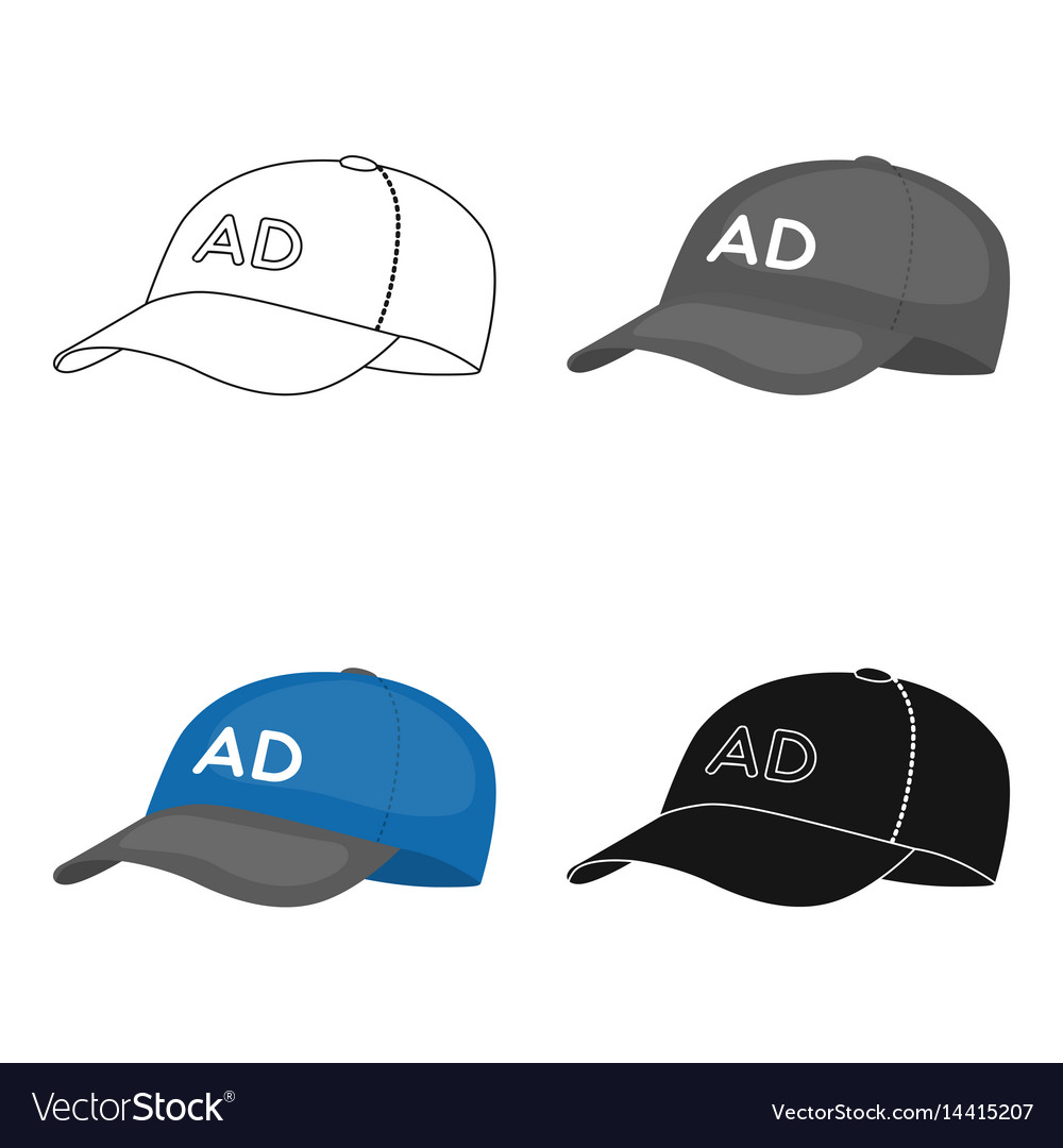 Baseball cap advertising icon in cartoon style