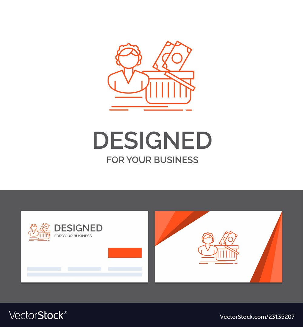 Business logo template for salary shopping basket