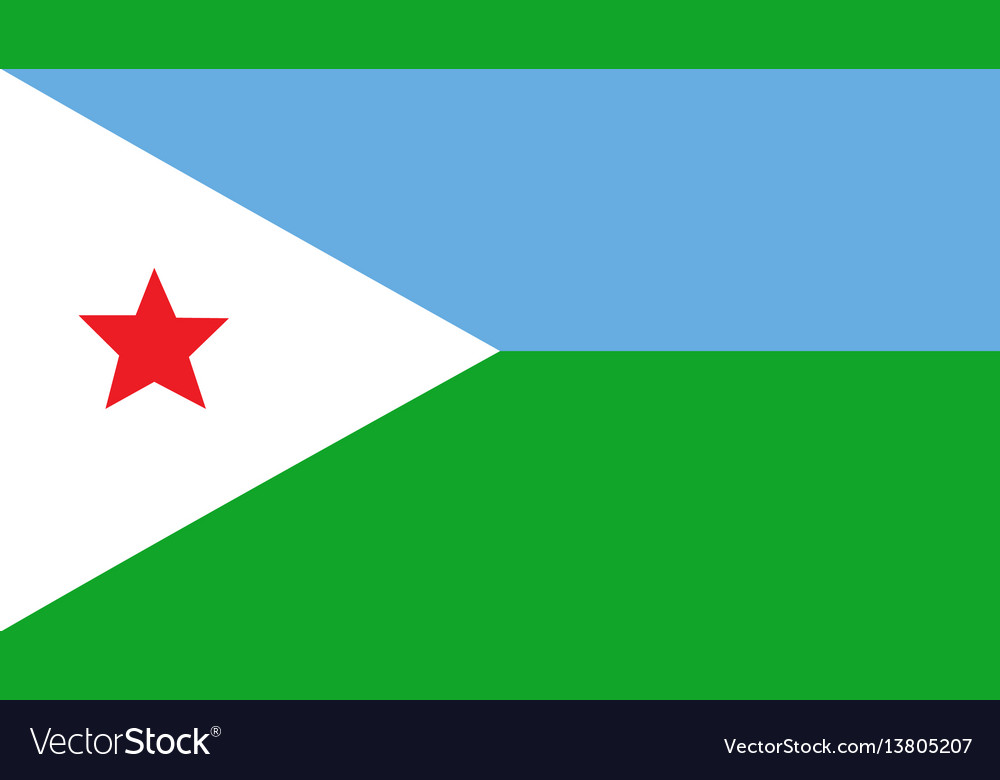 Djibouti flag for independence day and vector image