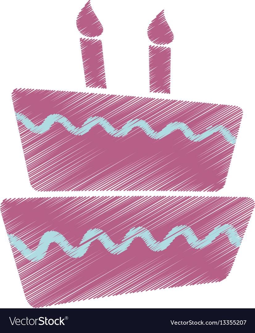 Drawing cake dessert sweet