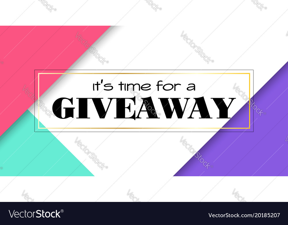 Time for giveaway banner facebook size