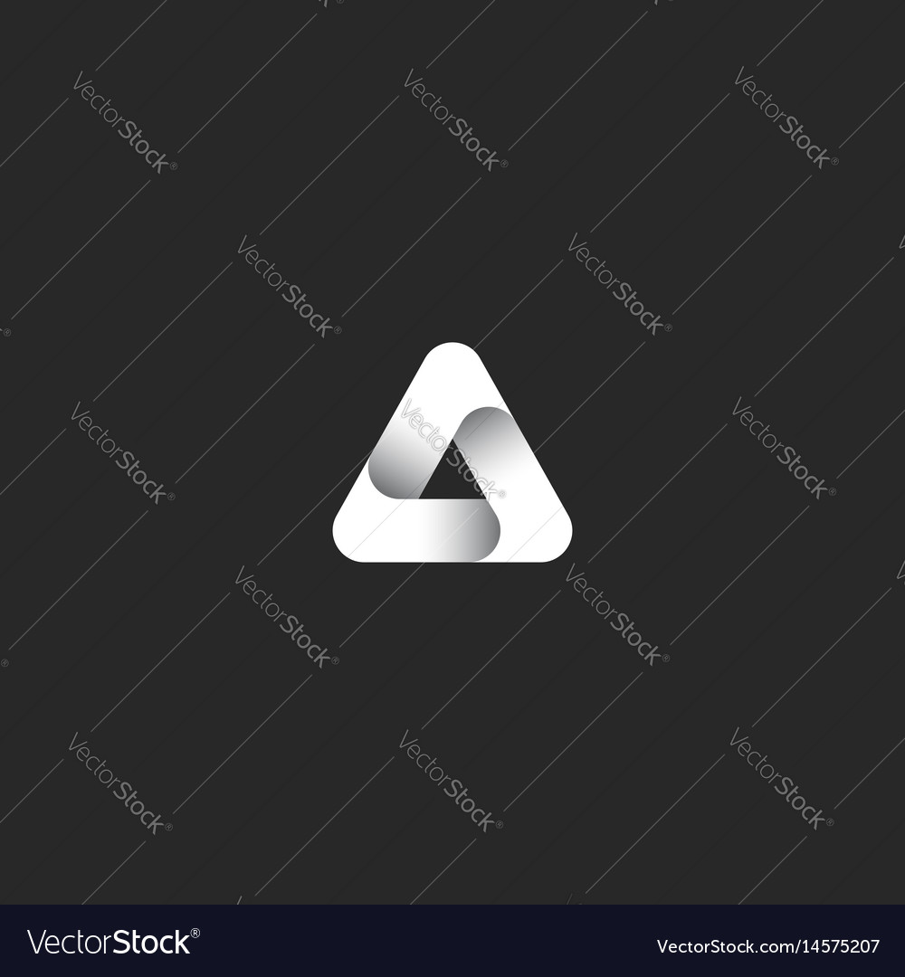 Triangle logo abstract infinity ribbon gradient vector image