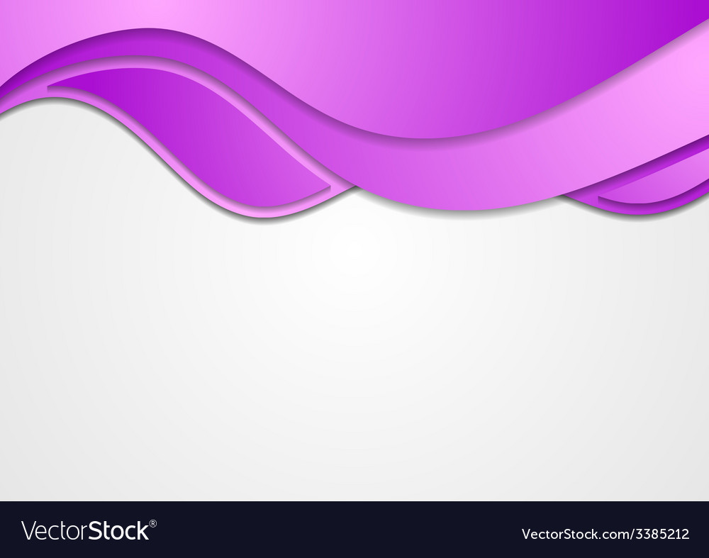 abstract purple waves corporate background vector image