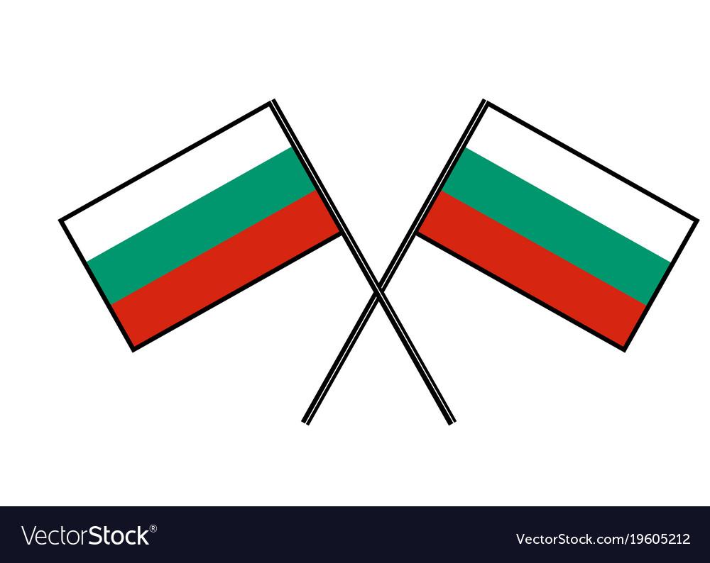 Flag of bulgaria stylization of national banner