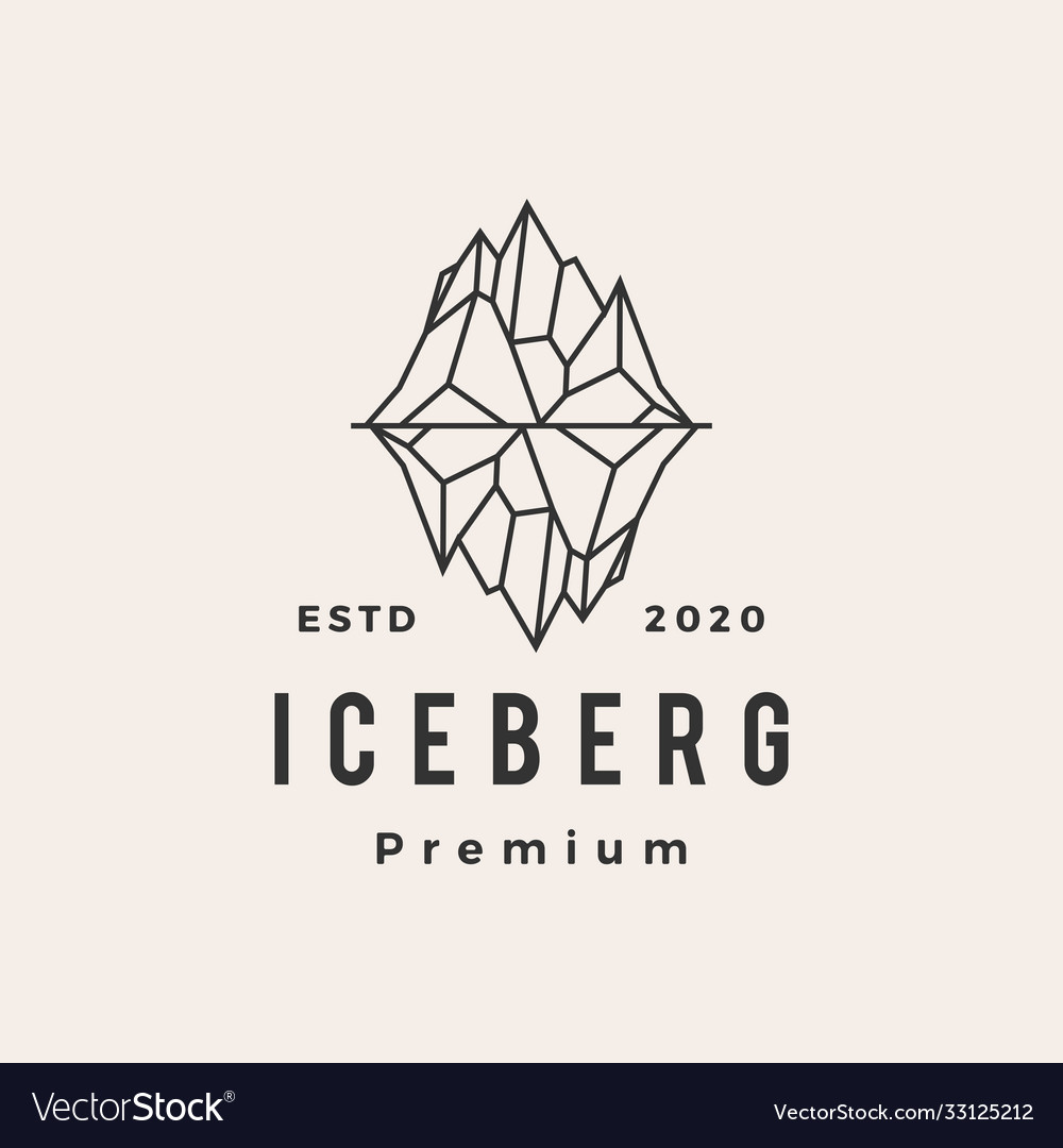 Iceberg mount hipster vintage logo icon