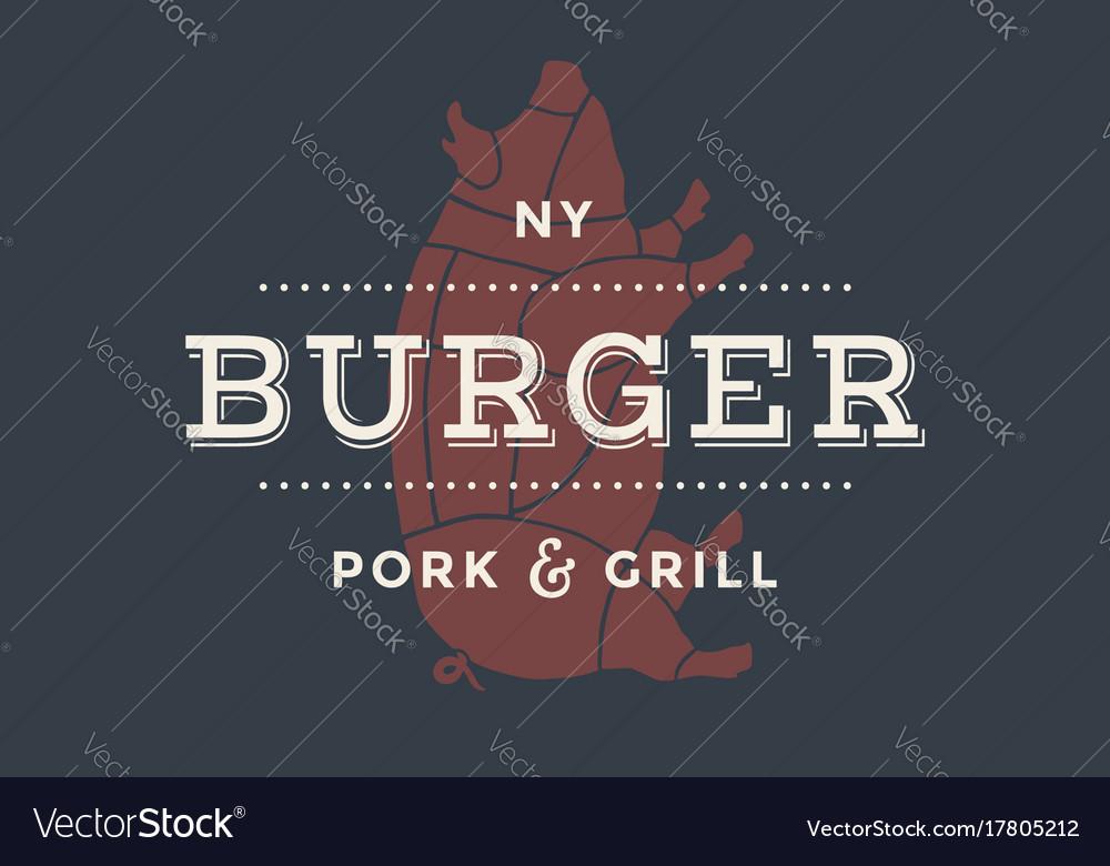 Logo of burger bar vector image