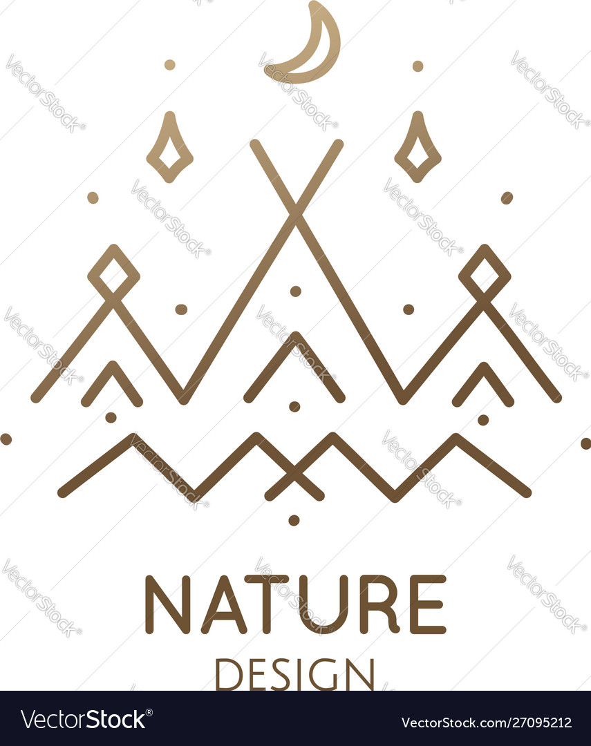 Minimal logo camping tent in nature