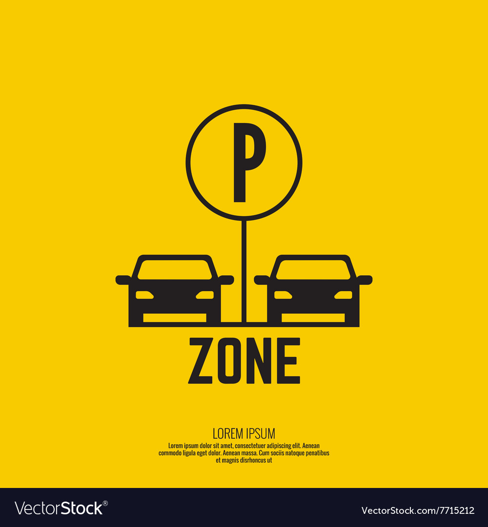 Pointer to the car parking zone