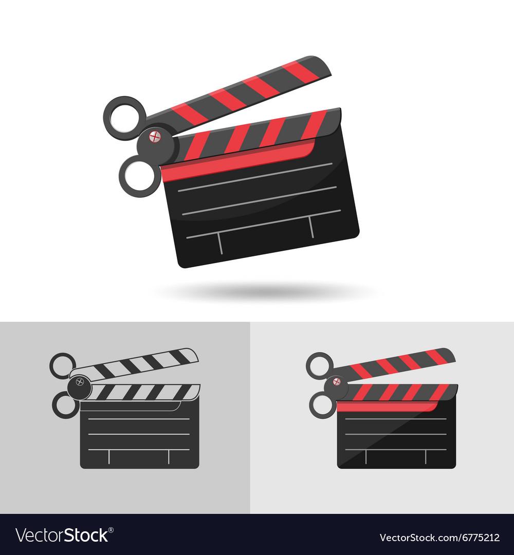 Scissors Slate Film Icon Logo Symbol