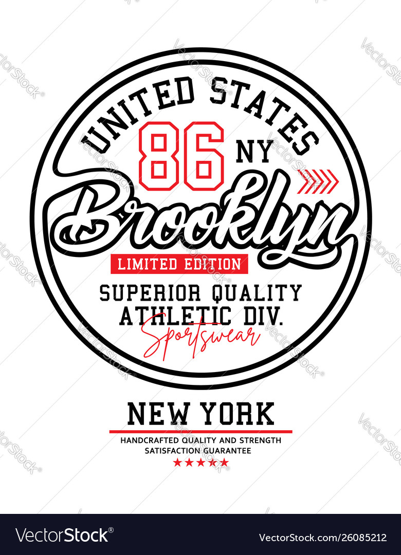 United states brooklyn typography for t-shirt