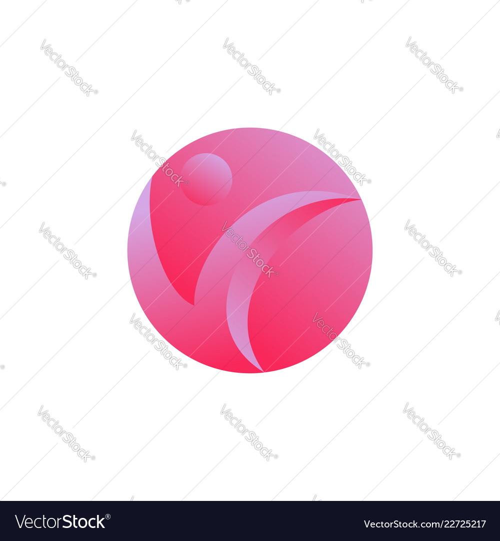 Abstract circle people icon logo