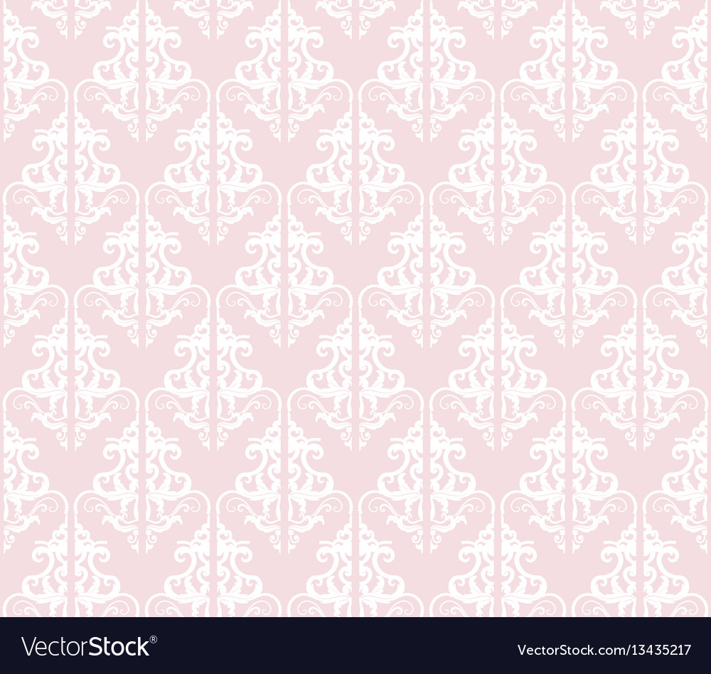 Damask seamless pattern background pastel pink