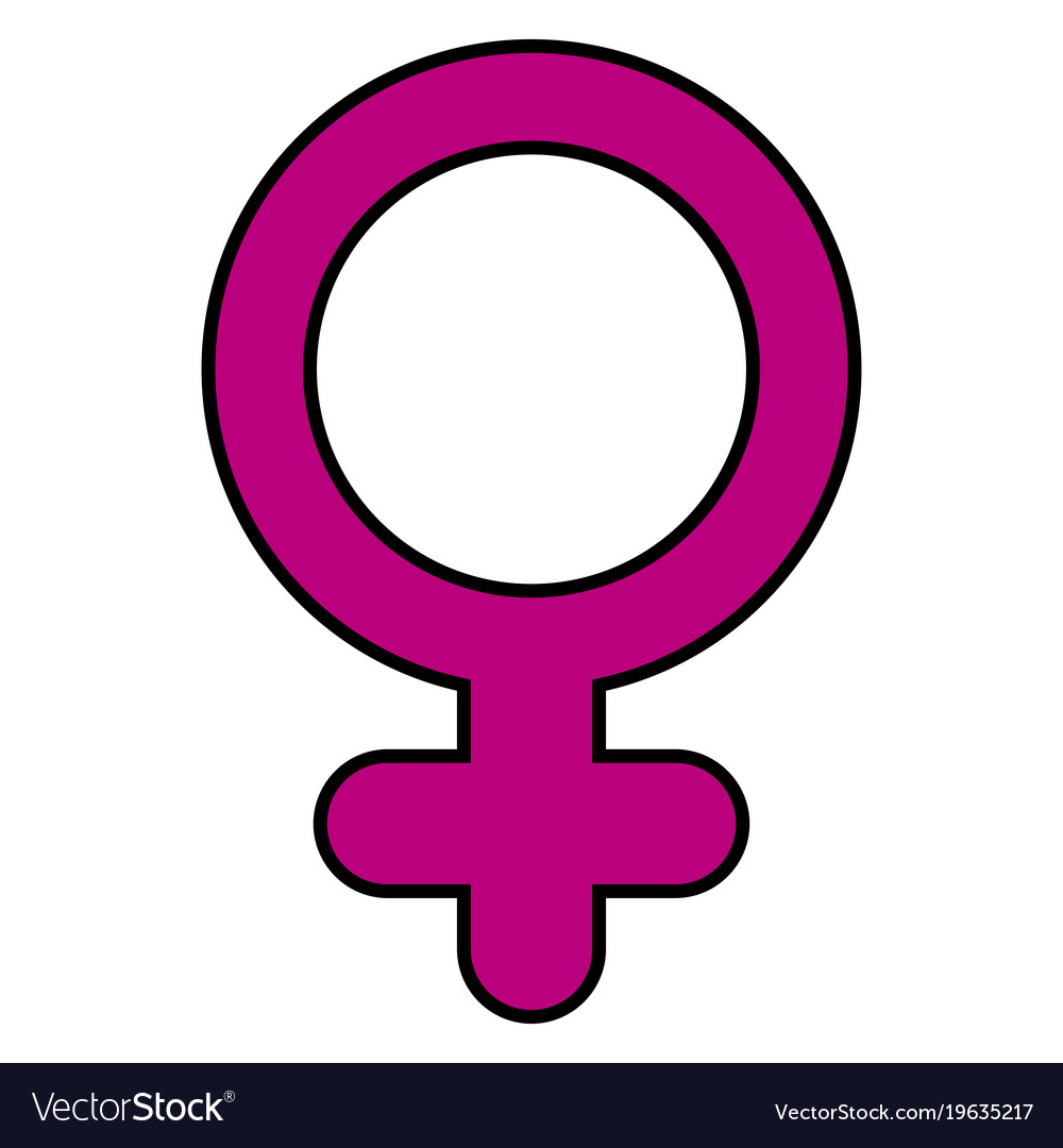 Female Gender Symbol Royalty Free Vector Image