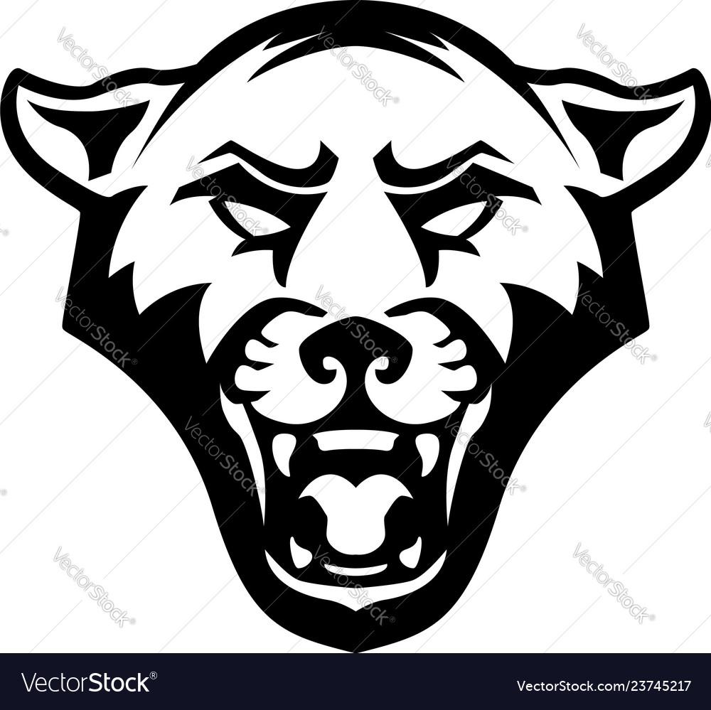 Pantera head on white background design element
