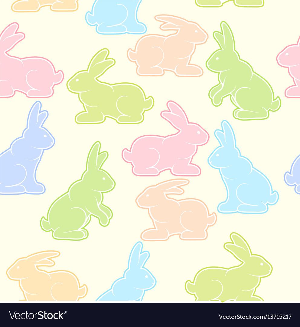 Rabbits background pastel