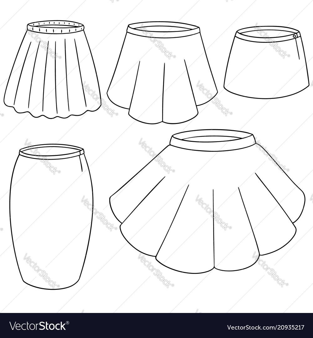 Set of skirt