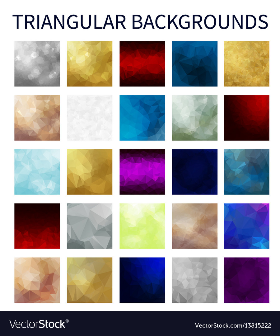 Big set of colorful triangular backgrounds