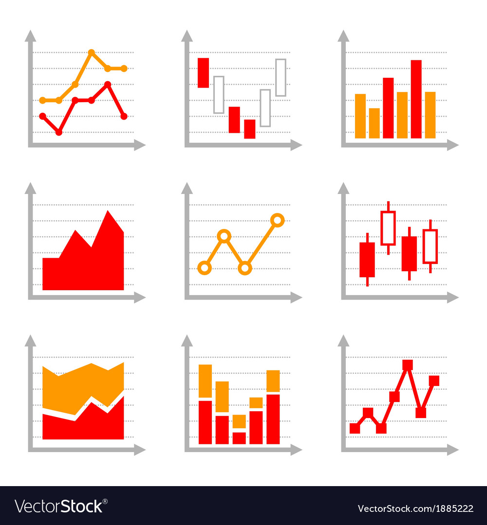 Business infographic colorful charts and diagrams Vector Image