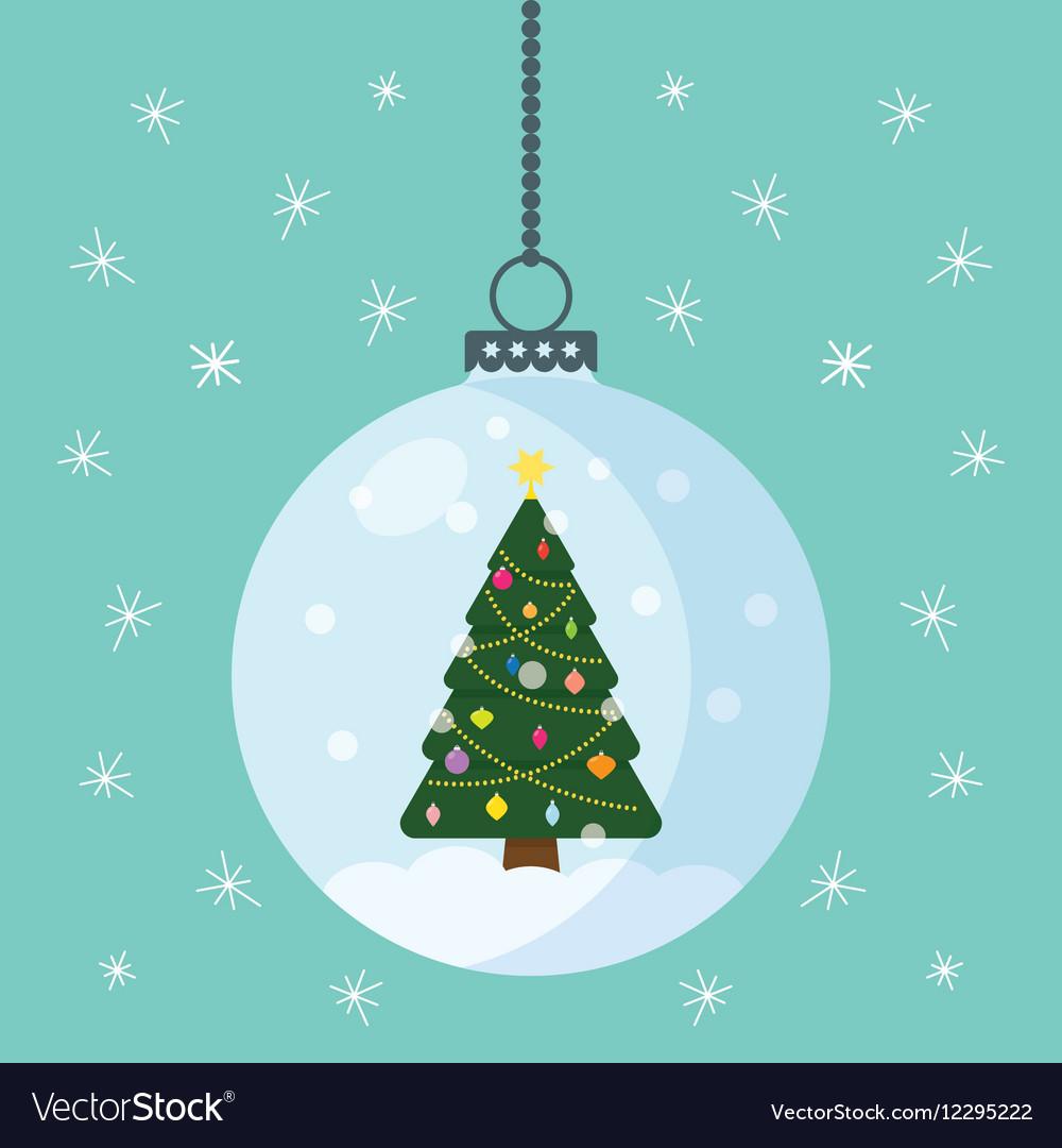 Christmas globe with a tree inside