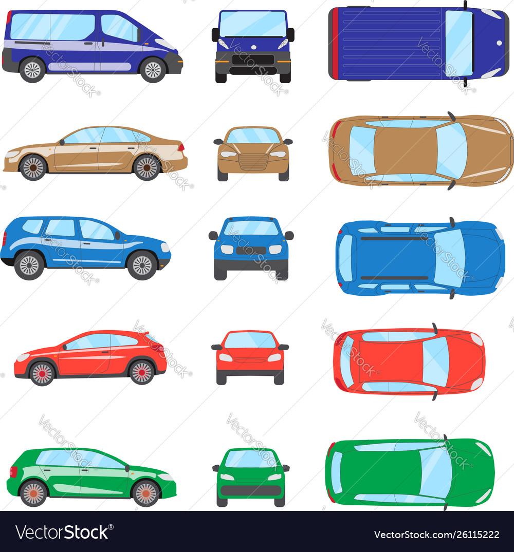 Different transportation car sedan car hatchback