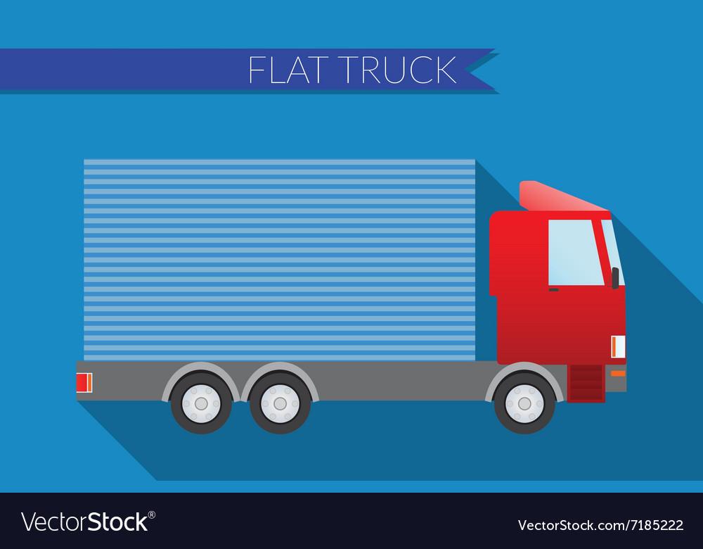 Flat design city Transportation small truck for