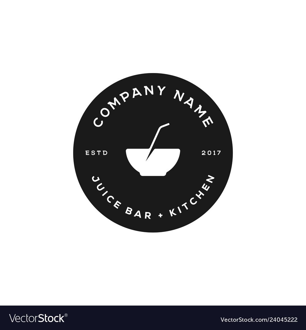 Juice bowl logo design