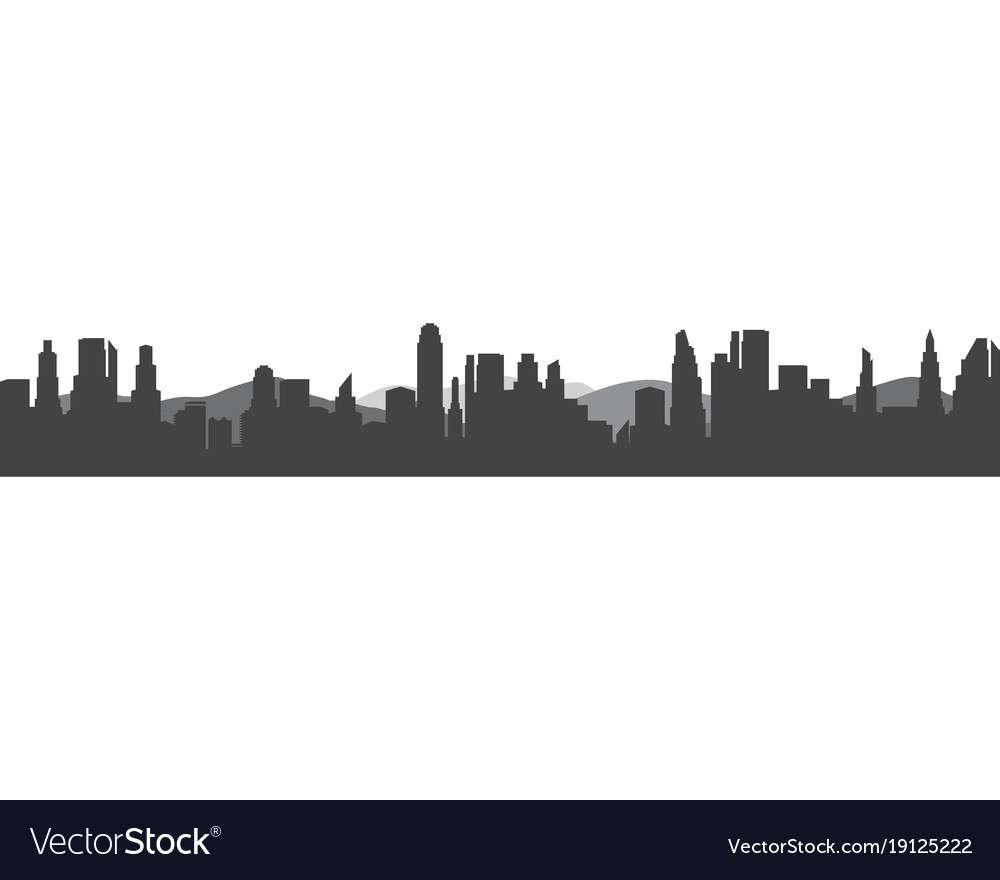 Modern City Skyline City Silhouette In Flat Vector Image Find & download free graphic resources for city silhouette. vectorstock