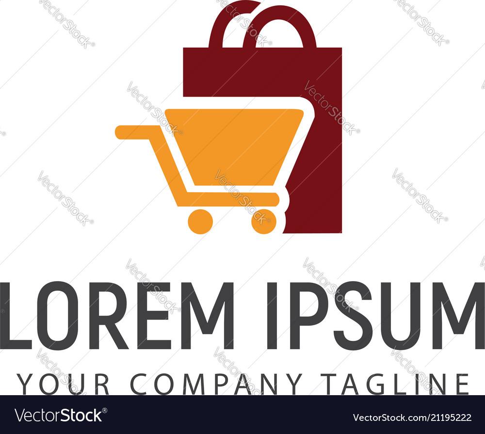 Shopping bag and carriage logo design concept