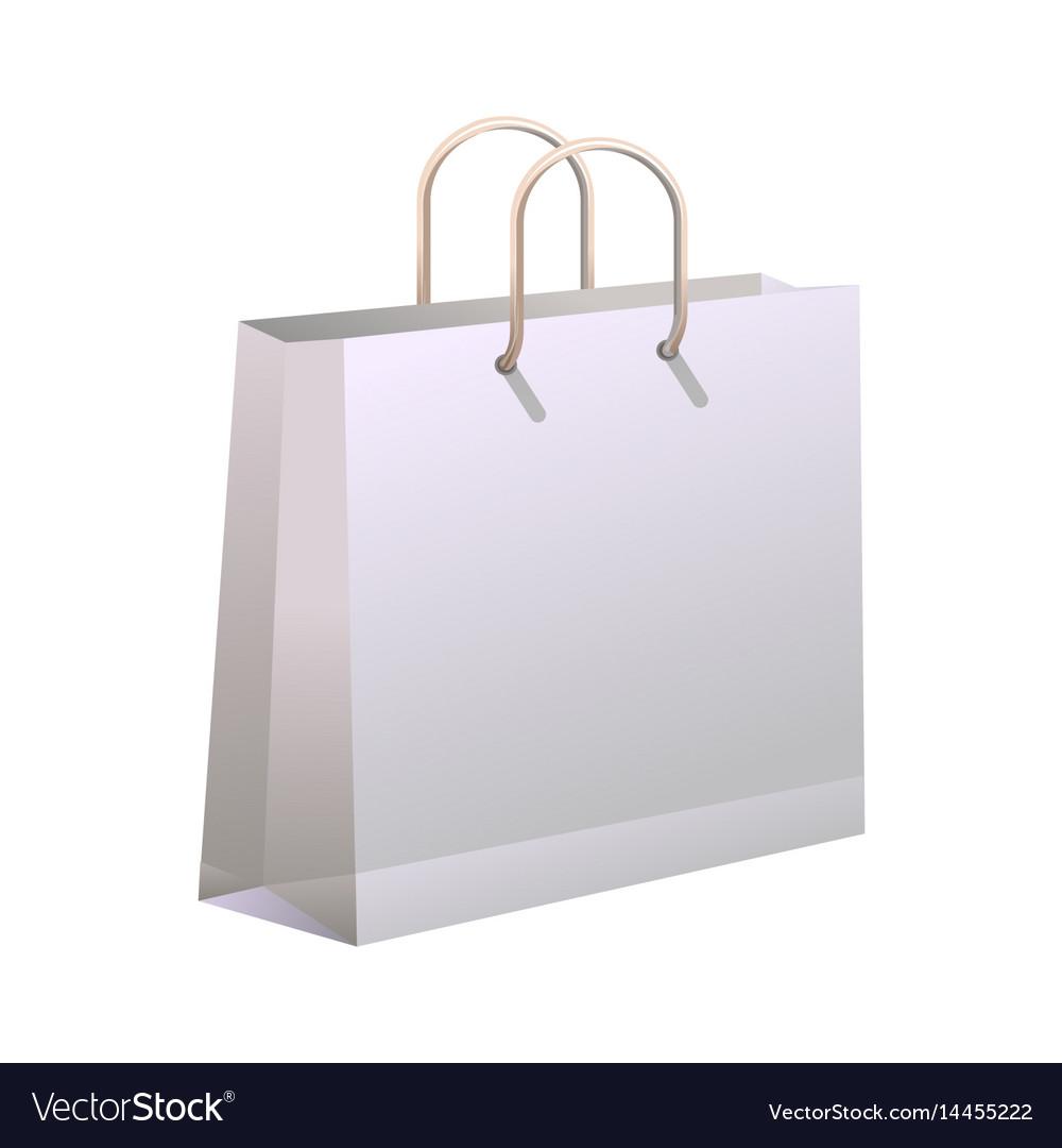 Shopping bag isolated on white vector image